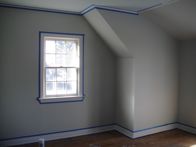 semi gloss paint on kitchen ceiling once finished painting trim snow white waited completely dry removing tape flat or for bathroom home depot black